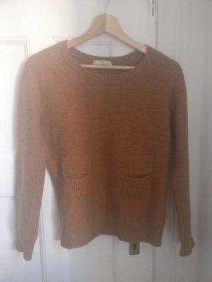 Süßer Pullover von Stefanel, Ringel, beige hellbraun, Gr. S