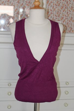 esprit collection Fine Knitted Cardigan purple viscose
