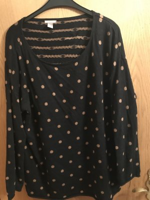 H&M Long Sweater dark blue-beige