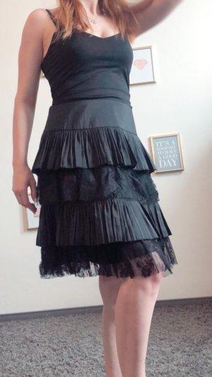 Falda acampanada negro
