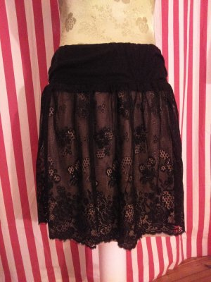Promod Lace Skirt black-nude