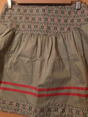 Blutsgeschwister Circle Skirt sage green-neon orange