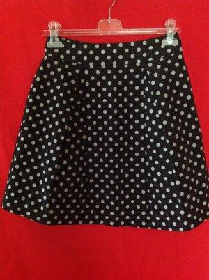 Hallhuber Plaid Skirt black-white mixture fibre