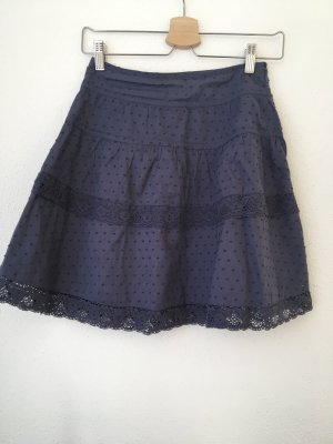 Hilfiger Denim Lace Skirt steel blue cotton