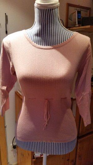 Süßer rosa Feinstrick Pullover v. FLASHLIGHTS Gr. 38 Top!