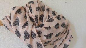 Bufanda tubo rosa-negro Algodón