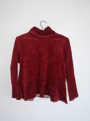 Turtleneck Shirt dark red