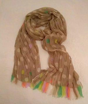 Süßer Schal / Tuch von Codello, NEU, Punkte, Sommer, leicht, grau, taupe
