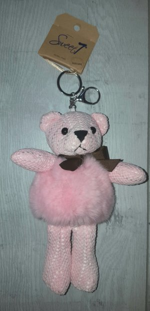 Sweet Deluxe Key Chain silver-colored-light pink
