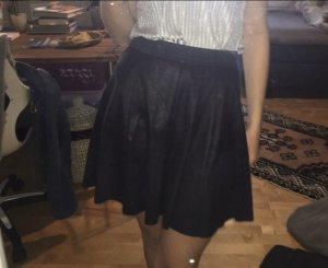 Only Skater Skirt black-silver-colored