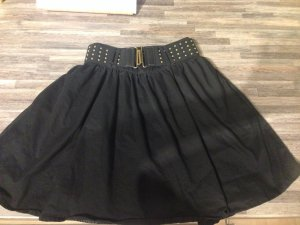 H&M Divided High Waist Skirt black cotton