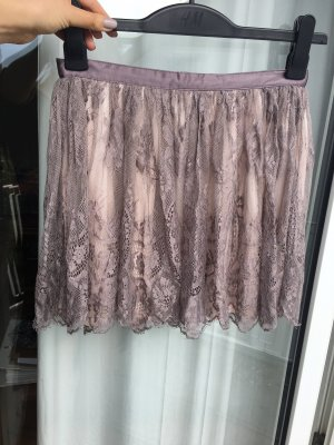 H&M Lace Skirt grey lilac-pink