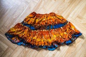 Mini-jupe multicolore coton