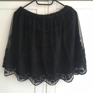 H&M Lace Skirt black