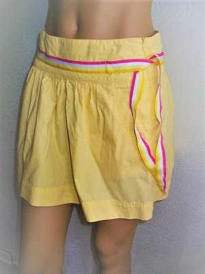 Miniskirt white-primrose cotton