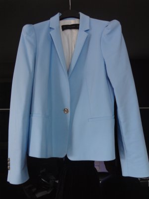 Süßer, strahelnd hellblauer Zara-Blazer mit tollen Knöpfen Gr. S