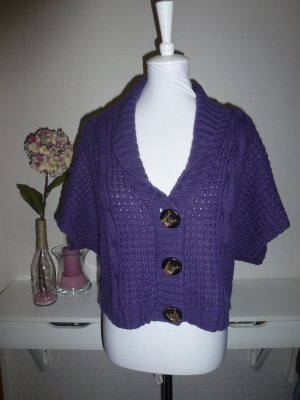 Knitted Bolero brown violet