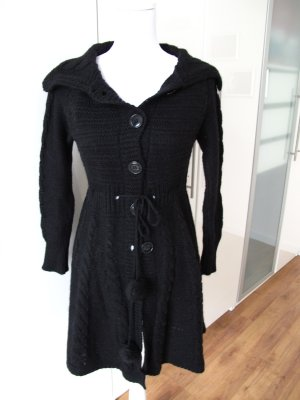 Gebreide jas zwart Acryl
