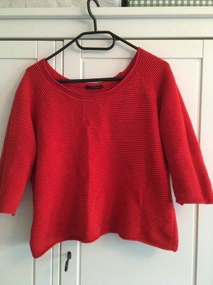 Promod Sweater met korte mouwen donkerrood-rood