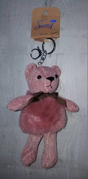 Porte-clés vieux rose