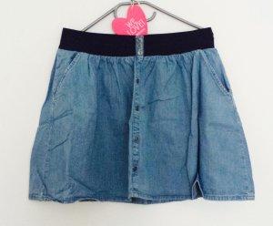 Süßer toller Jeansrock mit Gummibund und Knöpfen *Sommerlook* Denimrock in Gr. 40