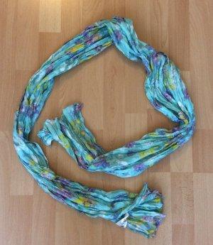 Süßer türkisfarbener Schal mit Blumenmuster von H&M (NEU)