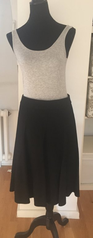 Süßer verspielter A-Linien Rock schwarz mit Wolle von H&M Größe 38