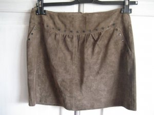 Promod Leather Skirt brown leather