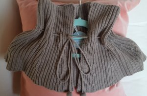 Flip*flop Scarf silver-colored-grey brown merino wool