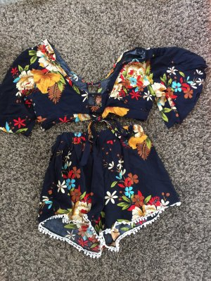 Twin set in jersey multicolore