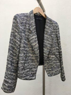 Zara Woman Tweed blazer room-zwart