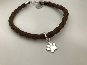 Armband bruin-zilver