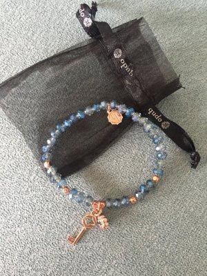 Süßes Armband von Lizas Jewelry, blaue Glassteine