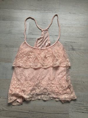 H&M Strappy Top rose-gold-coloured-pink