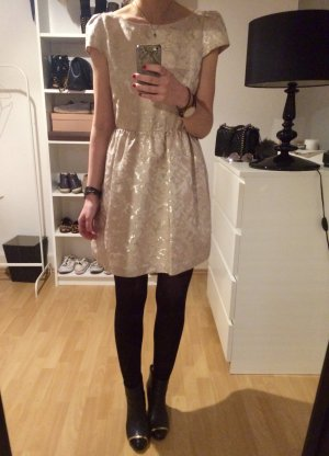 Alice + Olivia Dress cream-gold-colored