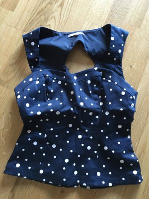 Süßes blaues Korsetttop und nie getragen in Gr. S von Mint& Berry (gepunktet)