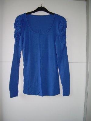 süßes blaues Longsleeve von Amisu Gr. XL 42 mit gerafften Schultern Shirt