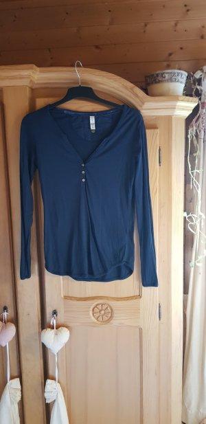 Campus Long Shirt dark blue mixture fibre