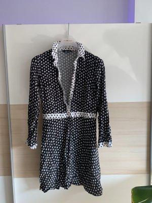 Miss Selfridge Vestido camisero blanco-negro