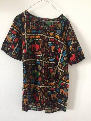 süßes Blusenshirt aus Baumwolle Elefantenprint