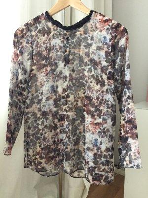 Süßes Blusenshirt Shirt Bluse florales Muster Gr. XS