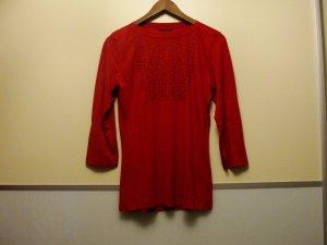 Süßes Blusenshirt von Mariposa mit Applikation, rot, GR M, nur 1 x getragen