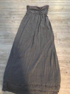 Superdry Bustier Dress grey mixture fibre