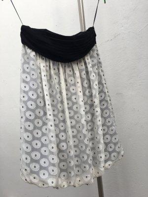 Süßes Bustierkleid Zara weiße Punkte mit Schwarz