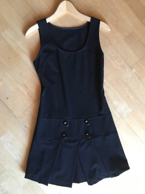 Süßes College-Minikleid, schwarz, Gr. 34-36