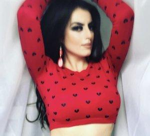 Tally Weijl T-shirt court noir-rouge