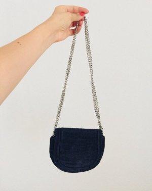 Süßes dunkelblaues Lederhandtäschchen zum umhängen (neu)