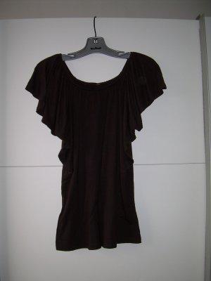 süßes dunkelbraunes Shirt mit Fledermausärmeln von Amisu Gr. L 40