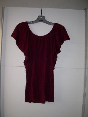 süßes dunkelrotes Shirt mit Fledermausärmeln von Amisu Gr. L 40