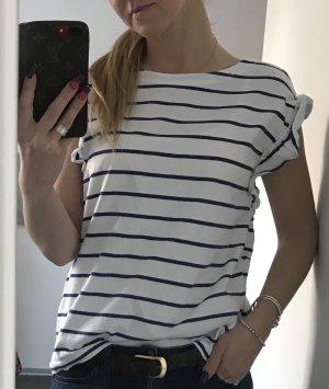 Esprit Gestreept shirt wit-blauw